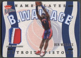 2002/03 Fleer Platinum #BW Ben Wallace Nameplates Patch #141/145