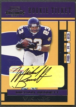 2001 Playoff Contenders #156 Michael Bennett Rookie Auto