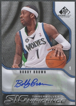 2009/10 SP Game Used #SBR Bobby Brown SIGnificance Auto