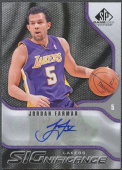 2009/10 SP Game Used #SJF Jordan Farmar SIGnificance Auto