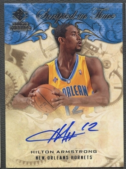 2008/09 Upper Deck SP Rookie Threads #SITHA Hilton Armstrong Scripted in Time Auto