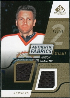 2008/09 Upper Deck SP Game Used Dual Authentic Fabrics Gold #AFAS Anton Stastny /50