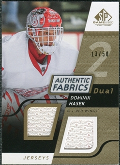 2008/09 Upper Deck SP Game Used Dual Authentic Fabrics Gold #AFDH Dominik Hasek /50