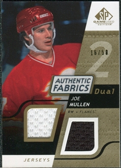 2008/09 Upper Deck SP Game Used Dual Authentic Fabrics Gold #AFJM Joe Mullen /50