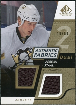 2008/09 Upper Deck SP Game Used Dual Authentic Fabrics Gold #AFJS Jordan Staal /50