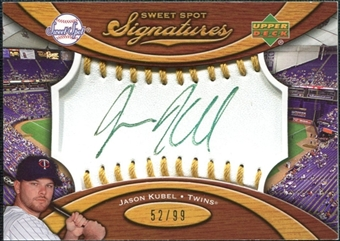 2007 Upper Deck Sweet Spot Signatures Gold Stitch Gold Ink #JK Jason Kubel /99