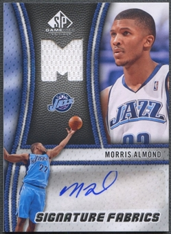 2009/10 SP Game Used #SFAL Morris Almond Signature Fabrics Jersey Auto