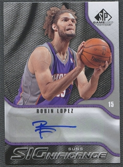 2009/10 SP Game Used #SRL Robin Lopez SIGnificance Auto
