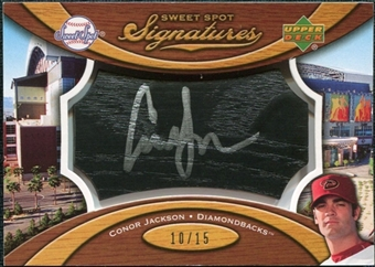 2007 Upper Deck Sweet Spot Signatures Black Bat Barrel Silver Ink #CJ Conor Jackson Autograph /15