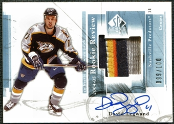 2004/05 Upper Deck SP Authentic Rookie Review #RRDL David Legwand Autograph /100