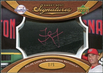 2007 Upper Deck Sweet Spot Signatures Black Bat Barrel Red Ink #FL Felipe Lopez 1/5