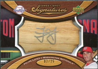 2007 Upper Deck Sweet Spot Signatures Bat Barrel Silver Ink #FL Felipe Lopez /25