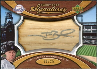 2007 Upper Deck Sweet Spot Signatures Bat Barrel Silver Ink #JB Jeff Baker /25