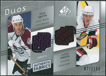 2008/09 Upper Deck SP Game Used Authentic Fabrics Duos #RJ Ryan Smyth Jason Spezza /100