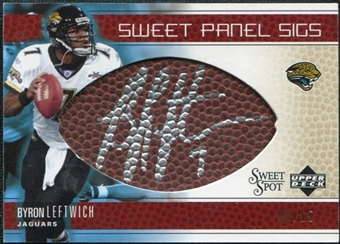 2005 Upper Deck Sweet Spot Sweet Panel Signatures Gold #SPBL Byron Leftwich Autograph /15