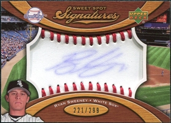 2007 Upper Deck Sweet Spot Signatures Red Stitch Blue Ink #RS Ryan Sweeney /299