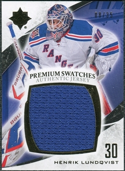 2010/11 Upper Deck Ultimate Collection Premium Swatches #PHL Henrik Lundqvist 8/35