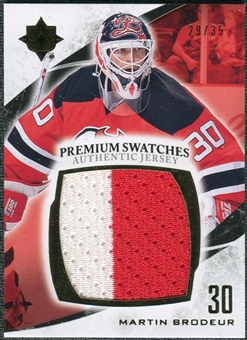 2010/11 Upper Deck Ultimate Collection Premium Swatches #PMB Martin Brodeur /35
