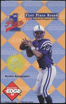 1998 Collector's Edge First Place Football Blaster Box