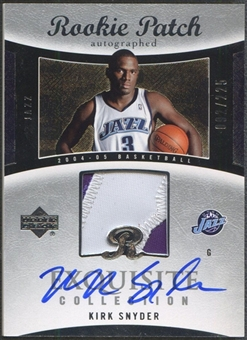 2004/05 Exquisite Collection #66 Kirk Snyder Rookie Patch Auto #092/225