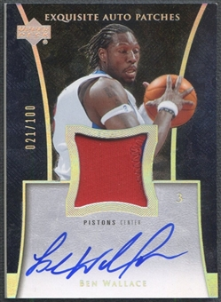 2004/05 Exquisite Collection #BW Ben Wallace Patch Auto #021/100