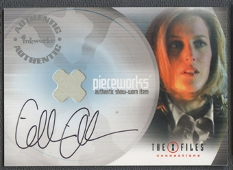 2005 X-Files Connections #PW1A Gillian Anderson Dana Scully's Shirt Auto