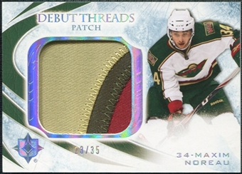 2010/11 Upper Deck Ultimate Collection Debut Threads Patches #DTMN Maxim Noreau /35
