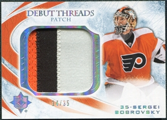 2010/11 Upper Deck Ultimate Collection Debut Threads Patches #DTSB Sergei Bobrovsky /35