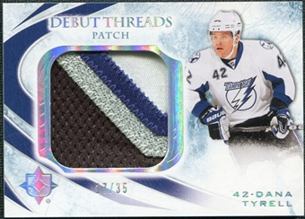 2010/11 Upper Deck Ultimate Collection Debut Threads Patches #DTTY Dana Tyrell /35