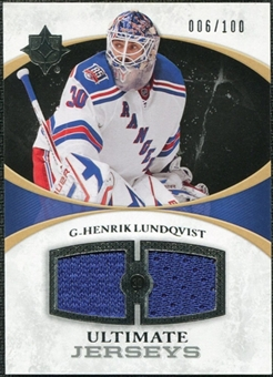 2010/11 Upper Deck Ultimate Collection Ultimate Jerseys #UJHL Henrik Lundqvist /100