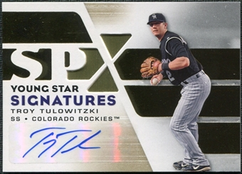 2008 Upper Deck SPx Young Star Signatures #TT Troy Tulowitzki Autograph