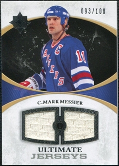 2010/11 Upper Deck Ultimate Collection Ultimate Jerseys #UJME Mark Messier /100