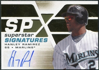2008 Upper Deck SPx Superstar Signatures #HR Hanley Ramirez Autograph
