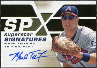 2008 Upper Deck SPx Superstar Signatures #MT Mark Teixeira Autograph