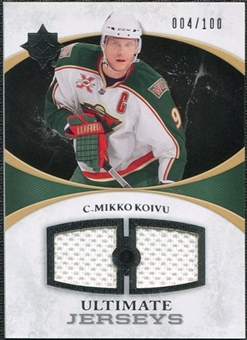 2010/11 Upper Deck Ultimate Collection Ultimate Jerseys #UJKO Mikko Koivu /100