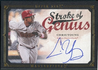 2008 Upper Deck UD Masterpieces Stroke of Genius Signatures #CY Chris B. Young Autograph