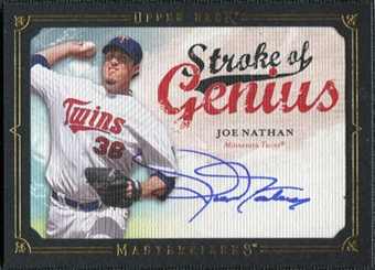 2008 Upper Deck UD Masterpieces Stroke of Genius Signatures #JN Joe Nathan Autograph