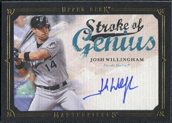 2008 Upper Deck UD Masterpieces Stroke of Genius Signatures #JW Josh Willingham Autograph