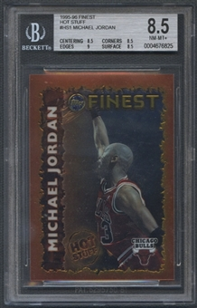 1995/96 Finest #HS1 Michael Jordan Hot Stuff BGS 8.5 (NM-MT+)