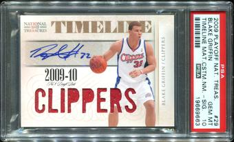 2009/10 Playoff National Treasures Timeline Materials Team Nicknames Signatures #29 Blake Griffin 15/30 PSA 10