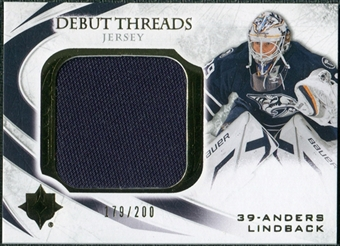 2010/11 Upper Deck Ultimate Collection Debut Threads #DTAL Anders Lindback /200