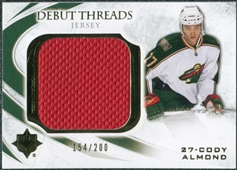 2010/11 Upper Deck Ultimate Collection Debut Threads #DTCA Cody Almond /200