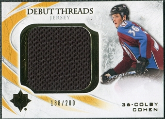 2010/11 Upper Deck Ultimate Collection Debut Threads #DTCC Colby Cohen /200