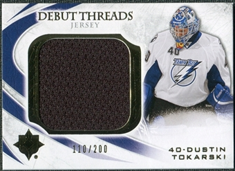 2010/11 Upper Deck Ultimate Collection Debut Threads #DTDT Dustin Tokarski /200