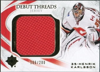 2010/11 Upper Deck Ultimate Collection Debut Threads #DTHK Henrik Karlsson /200