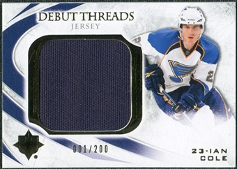 2010/11 Upper Deck Ultimate Collection Debut Threads #DTIC Ian Cole /200