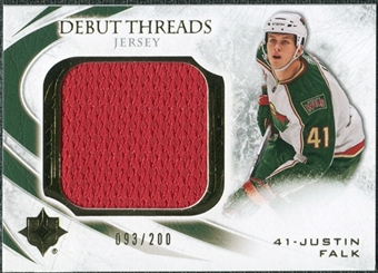 2010/11 Upper Deck Ultimate Collection Debut Threads #DTJF Justin Falk /200