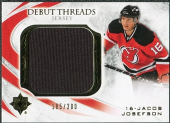 2010/11 Upper Deck Ultimate Collection Debut Threads #DTJJ Jacob Josefson /200