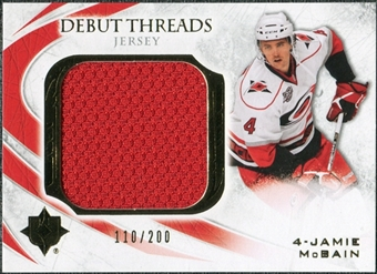 2010/11 Upper Deck Ultimate Collection Debut Threads #DTMC Jamie McBain /200