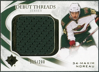 2010/11 Upper Deck Ultimate Collection Debut Threads #DTMN Maxim Noreau /200